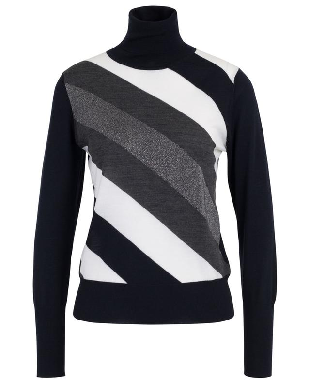 Turtleneck jumper with sparkling diagonals LORENA ANTONIAZZI