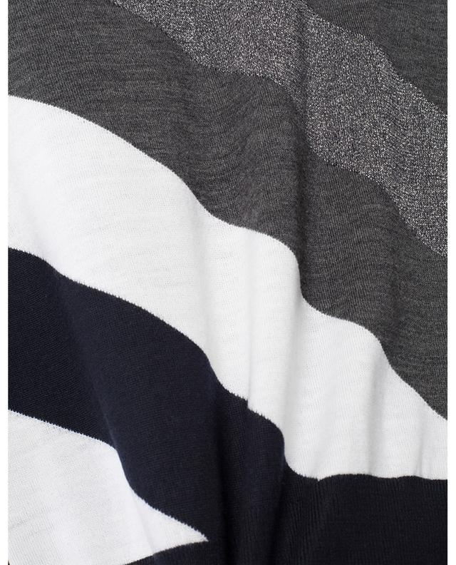 Rollkragenpullover mit glitzernden Diagonalen LORENA ANTONIAZZI