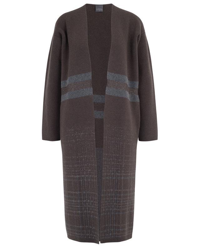 Long cardigan with stripes and checks LORENA ANTONIAZZI
