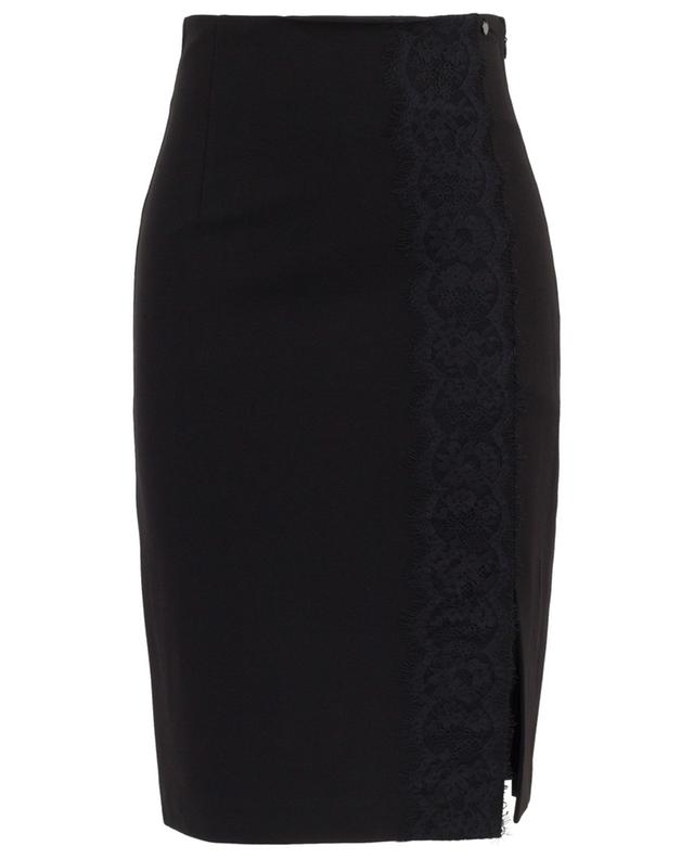 Lace adorned pencil skirt with slit TWINSET