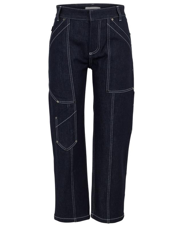 Wide leg jeans with topstitches CHLOE