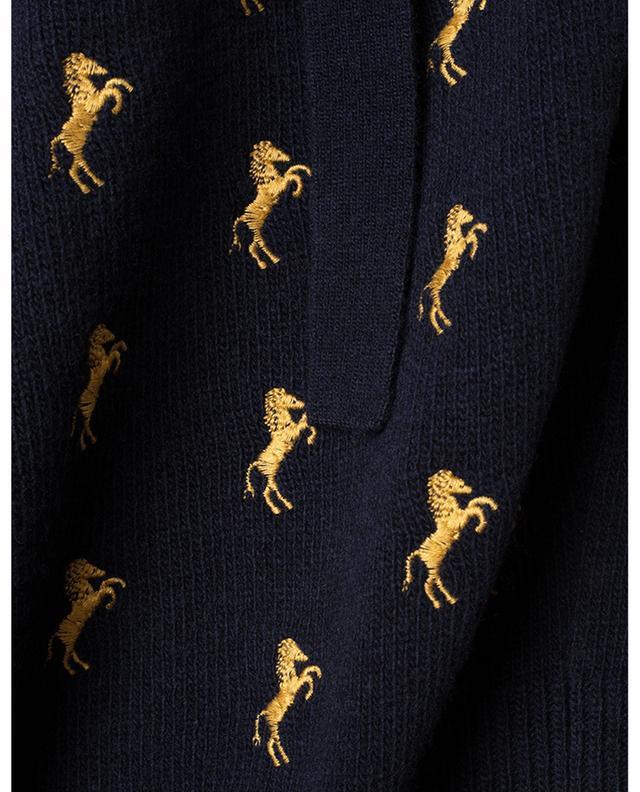 Pull en laine brodé de chevaux CHLOE