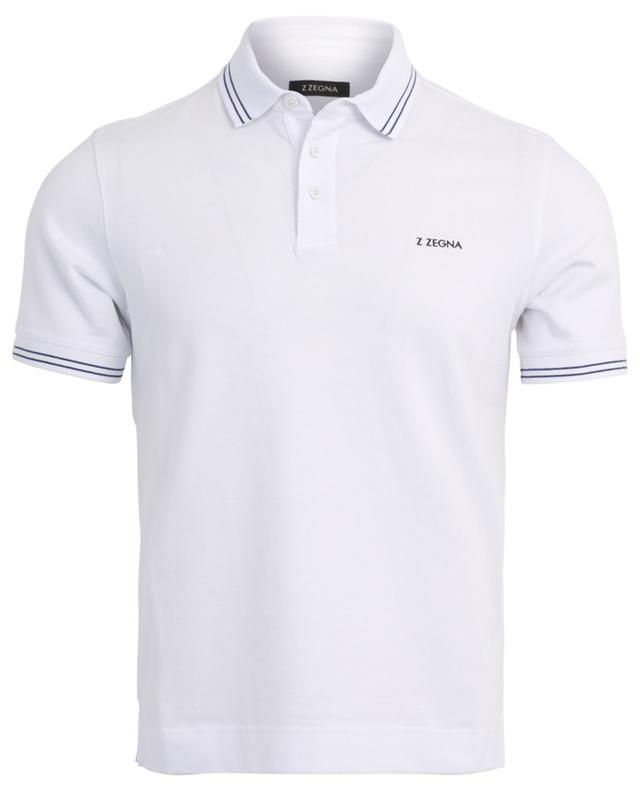 Piquéd cotton polo shirt Z ZEGNA
