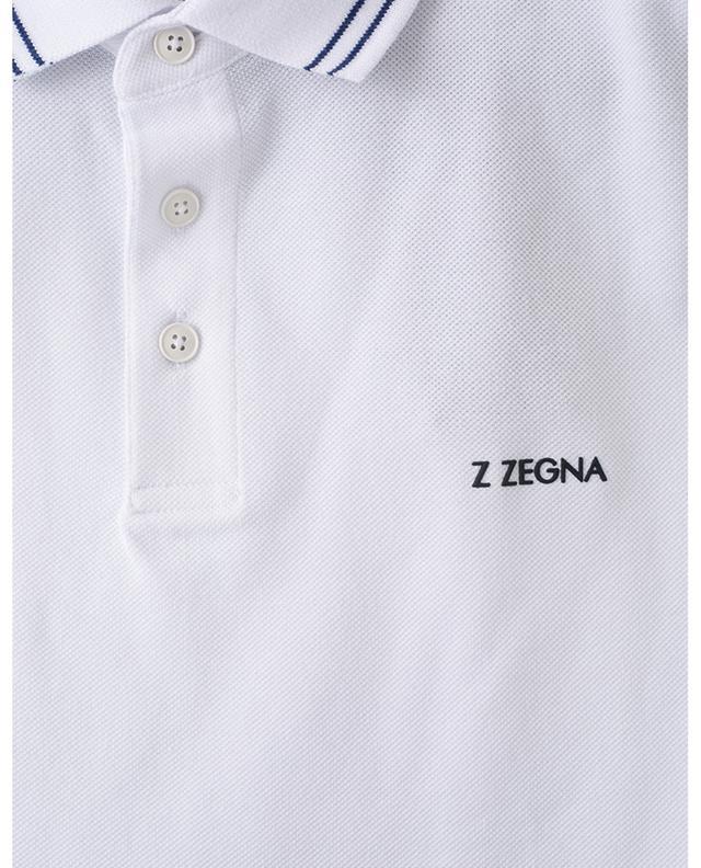Polo en coton piqué Z ZEGNA