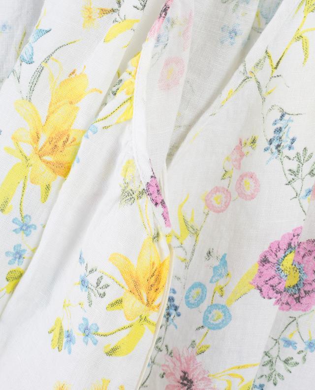 Floral linen maxi strappy dress 120% LINO