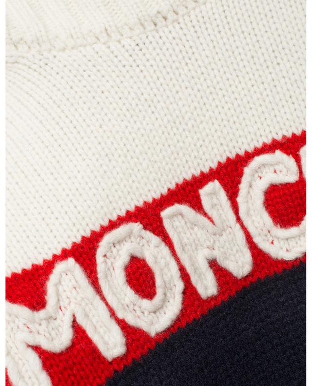 Thick tricolour jumper with logo embroidery MONCLER