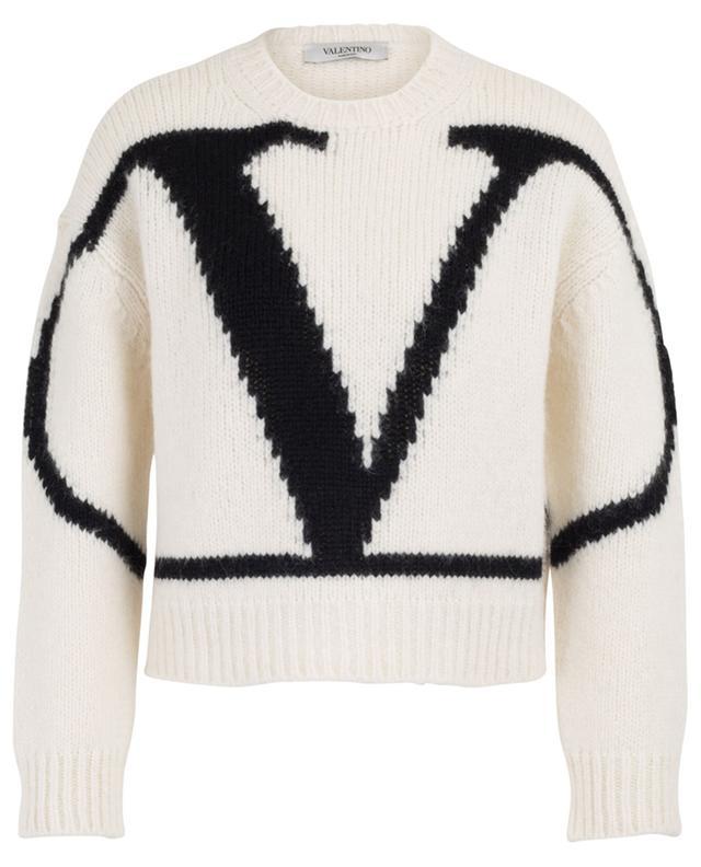 VLOGO alpaca blend cropped jumper VALENTINO