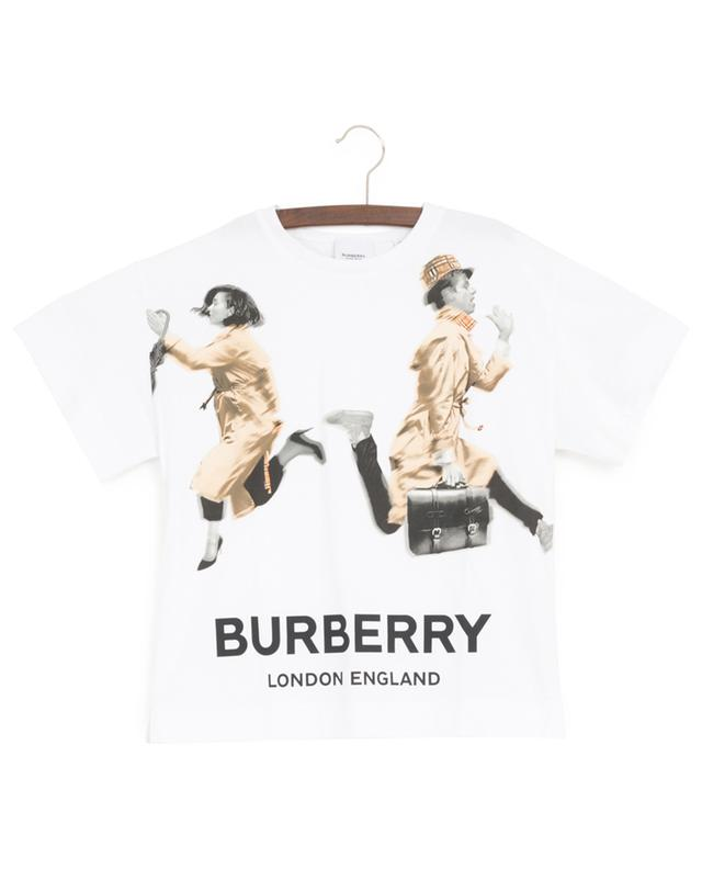 T-Shirt mit Print Blurred People BURBERRY