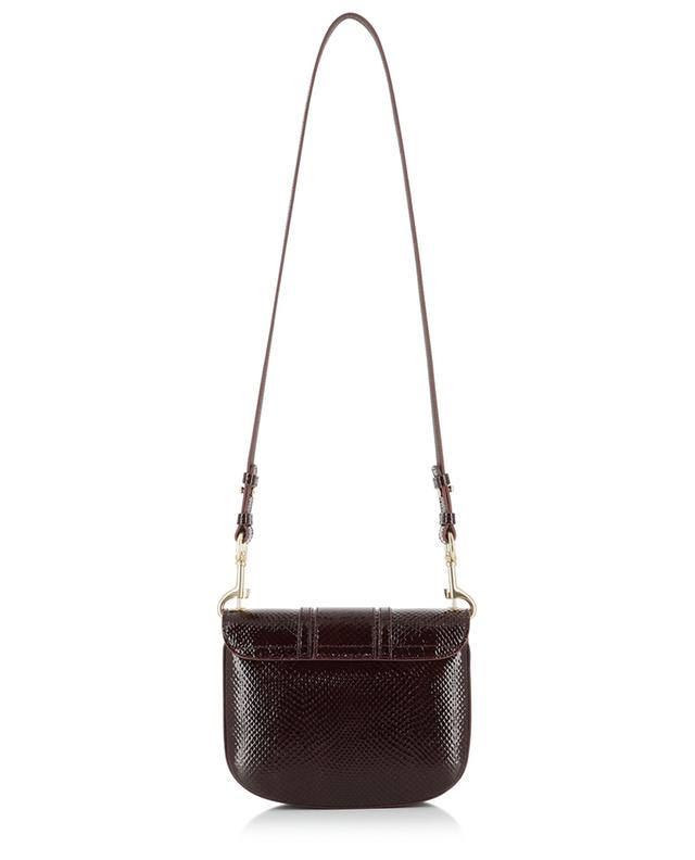 Hana python effect patent leather shoulder bag SEE BY CHLOE