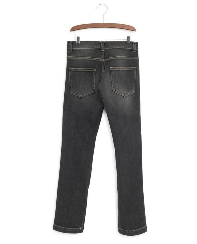 FF band faded black jeans FENDI