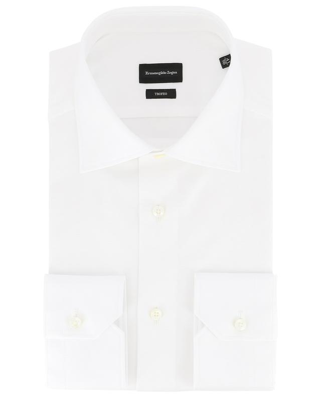 Trofeo textured cotton slim fit shirt ERMENEGILDO ZEGNA