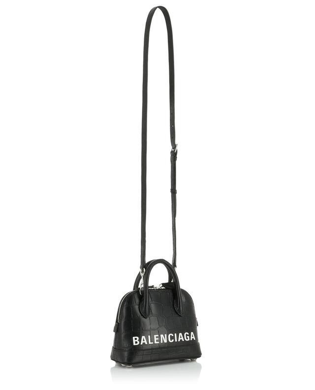 Mini-Handtasche in Kroko-Optik Ville Top Handle XXS BALENCIAGA