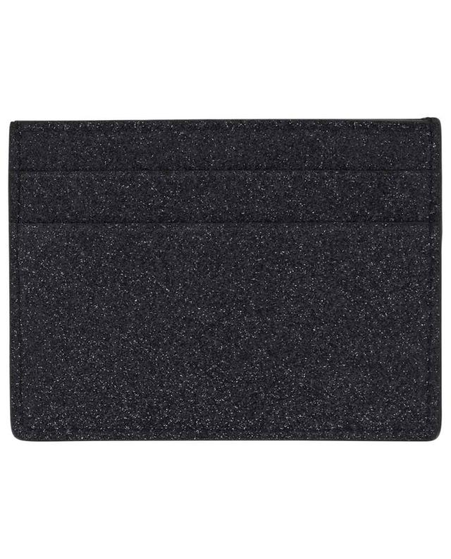 Everyday glitter leather card holder BALENCIAGA