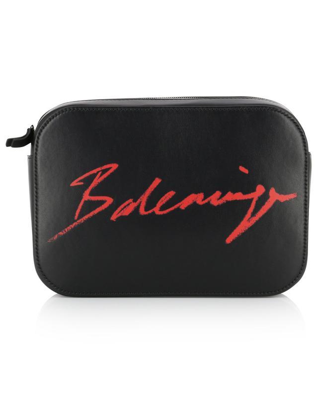Sac porté épaule en cuir avec logo Signature Everyday Camera S BALENCIAGA