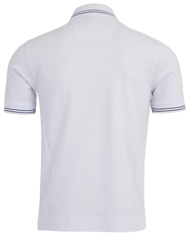 Stripe detail piqué cotton polo shirt Z ZEGNA