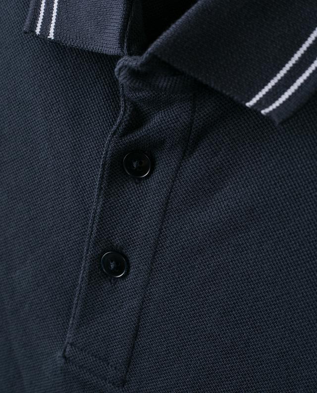 Polo en coton piqué détail rayures Z ZEGNA