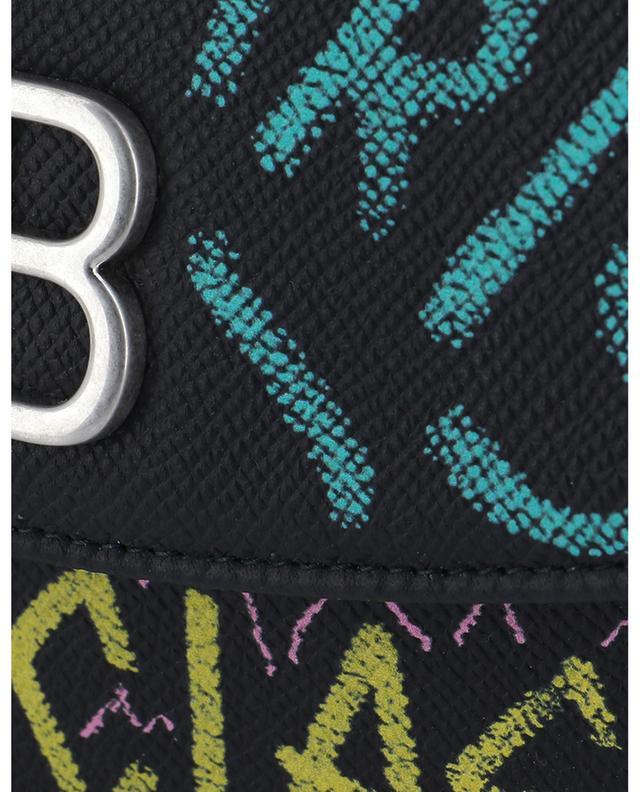 BB graffiti print leather chain wallet BALENCIAGA