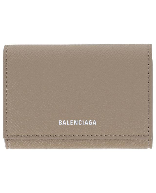 Ville Accordeon grained leather card holder BALENCIAGA