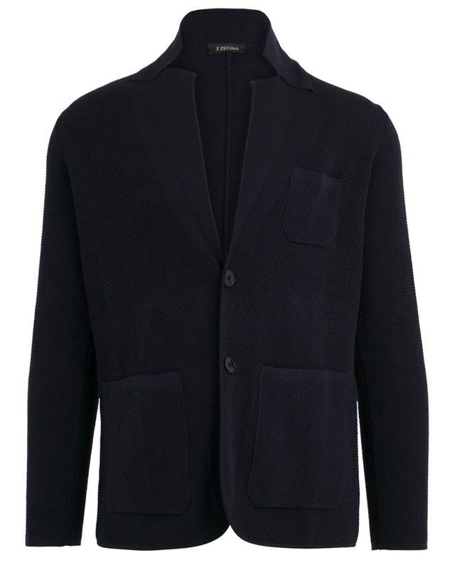 Cardigan en coton texturé Z ZEGNA