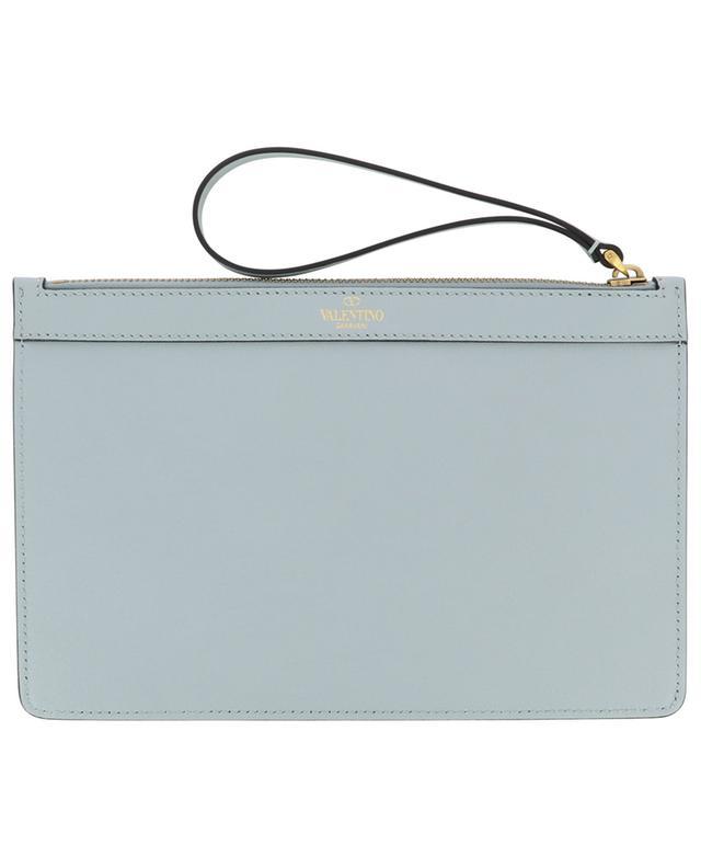 VLOGO Medium zippered leather pouch VALENTINO