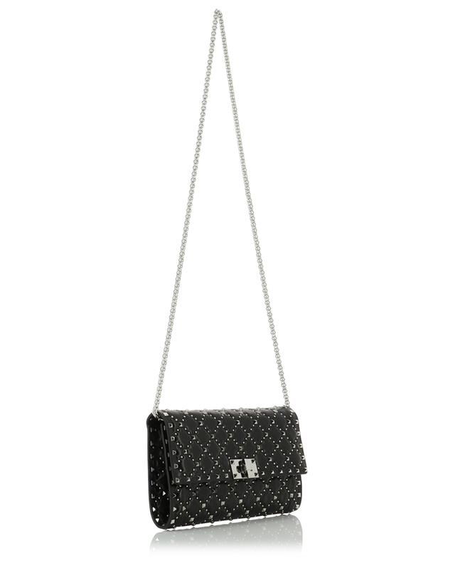 Rockstud Spike vintage effect leather mini bag with round studs VALENTINO