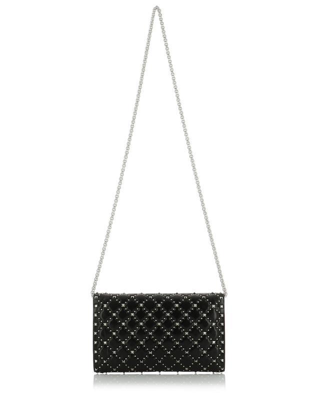 Mini sac en cuir effet vintage avec clous ronds Rockstud Spike VALENTINO