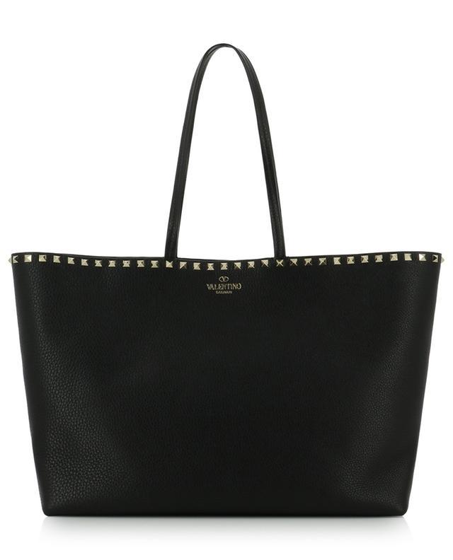 Rockstud Shopper grained leather tote bag VALENTINO