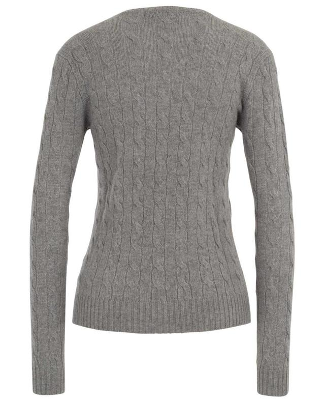 Fitted V-neck cable knit jumper POLO RALPH LAUREN