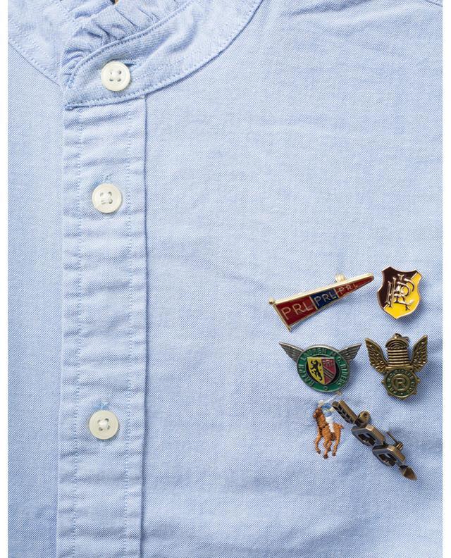 Chemise slim à col volanté avec pins POLO RALPH LAUREN