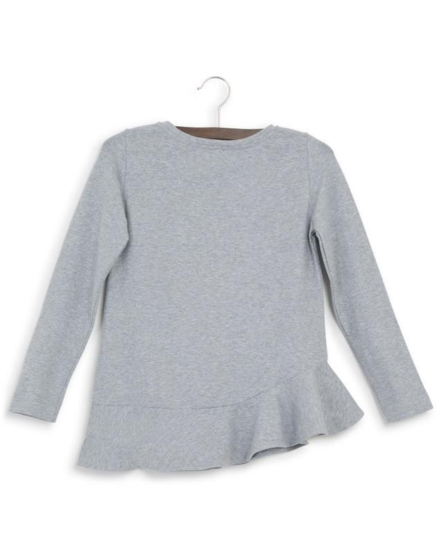 Glam long-sleeved peplum T-shirt MONNALISA