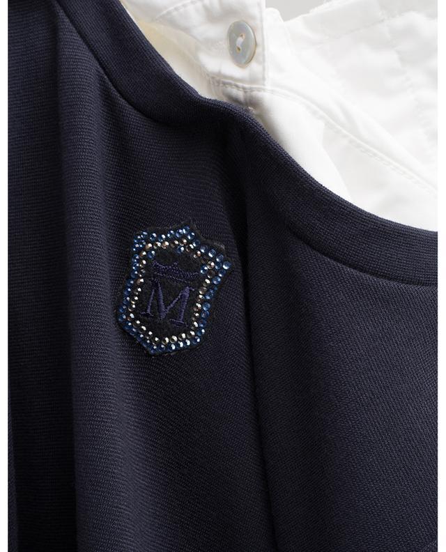 Robe en jersey avec noeuds, cristaux et col amovible MONNALISA