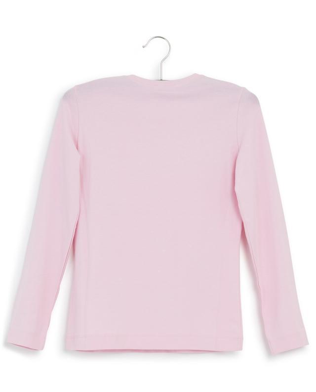 Flower embroidered long-sleeved T-shirt MONNALISA