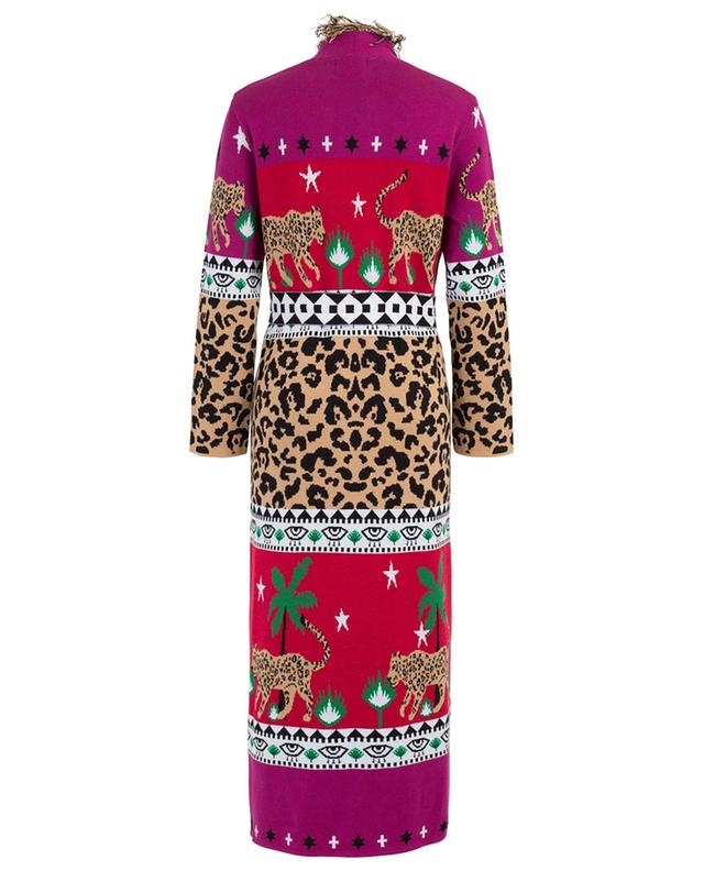 Manteau jacquard ouvert Leopardess Duster HAYLEY MENZIES