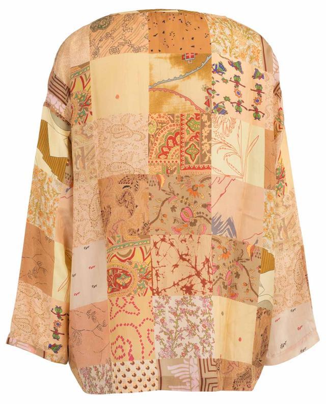Pachtou patchwork print silk blouse MES DEMOISELLES