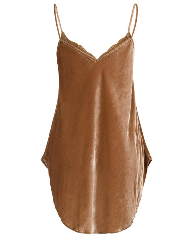 She A-line camisole in velvet and lace MES DEMOISELLES