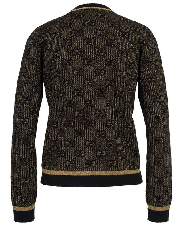 GG Lamé short black and gold cardigan GUCCI
