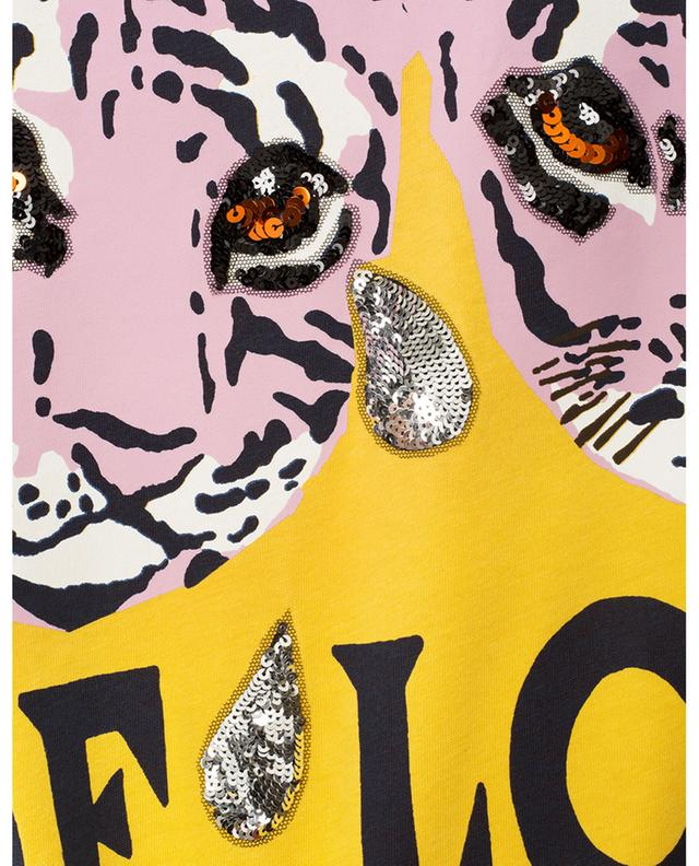 Oversize-T-Shirt mit Tiger-Print Elisir of Love GUCCI