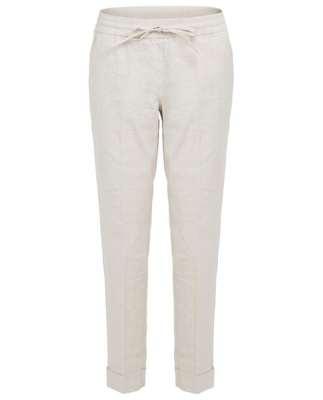 Pantalon raccourci en lin stretch Kiki CAMBIO