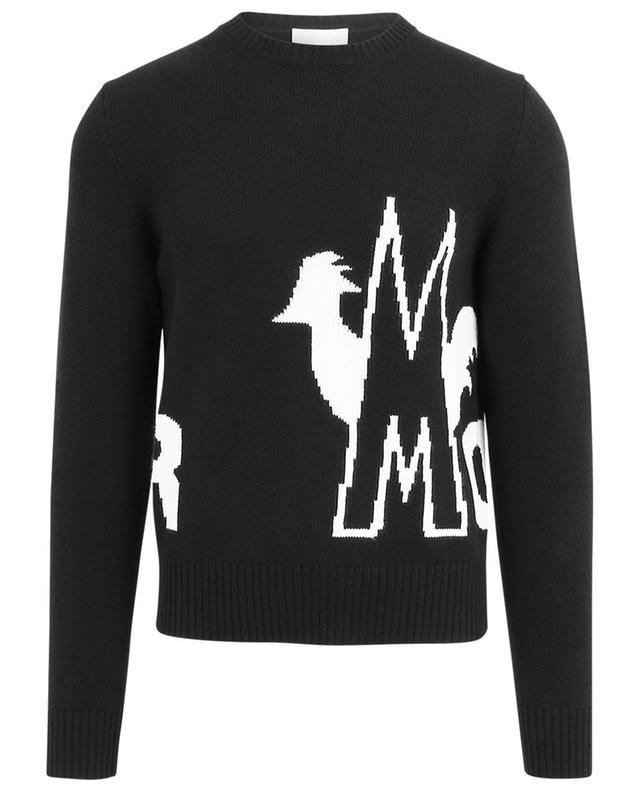 Pull en laine et cachemire logo et coq intarsia MONCLER