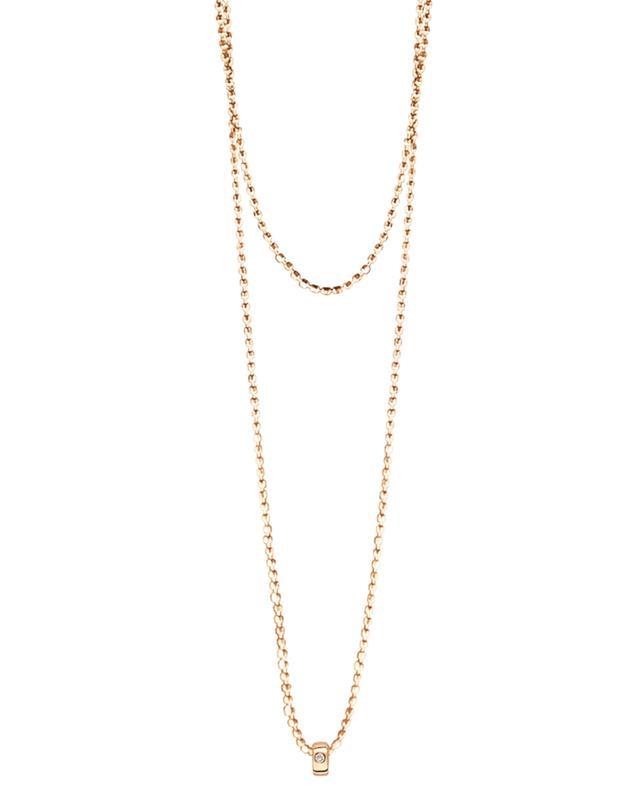 Sautoir en or avec diamant Mini Tube & Diamond GINETTE NY