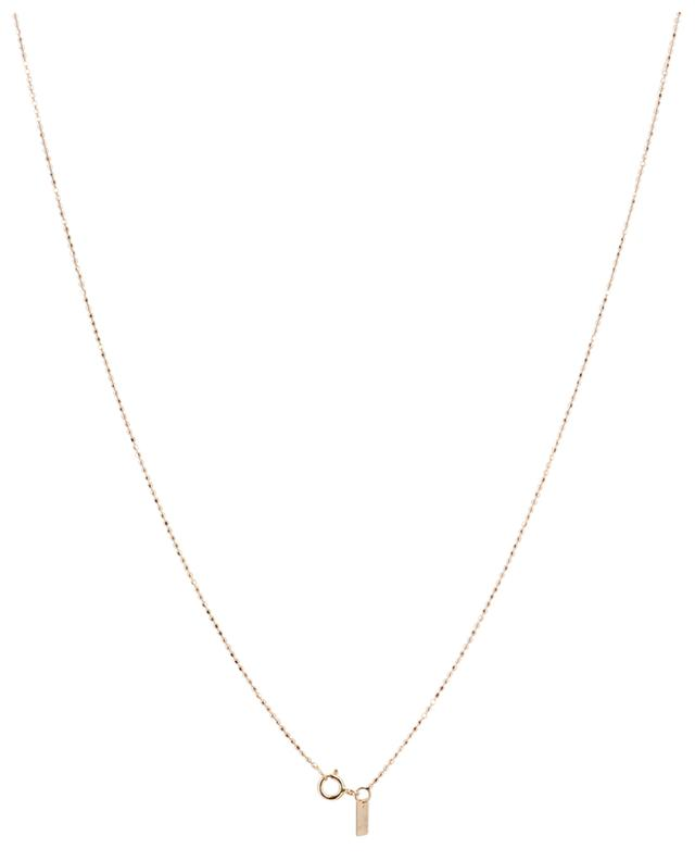 Mini Tube & Diamond long gold and diamond necklace GINETTE NY