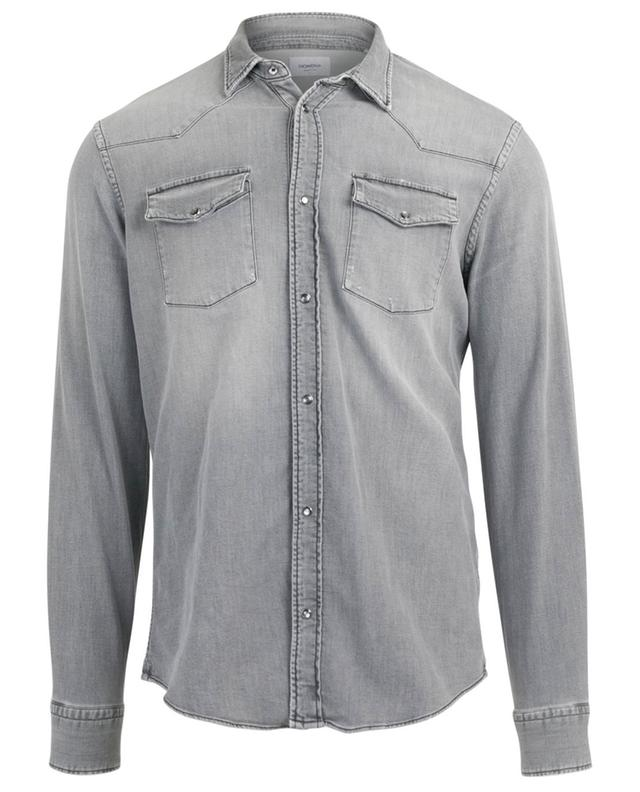 Distressed denim shirt DONDUP