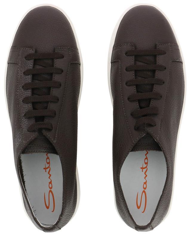 Sneakers aus genarbtem Leder SANTONI