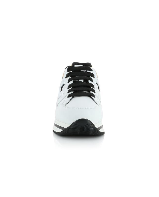 Sneakers aus weissem und goldenem Leder H222 HOGAN