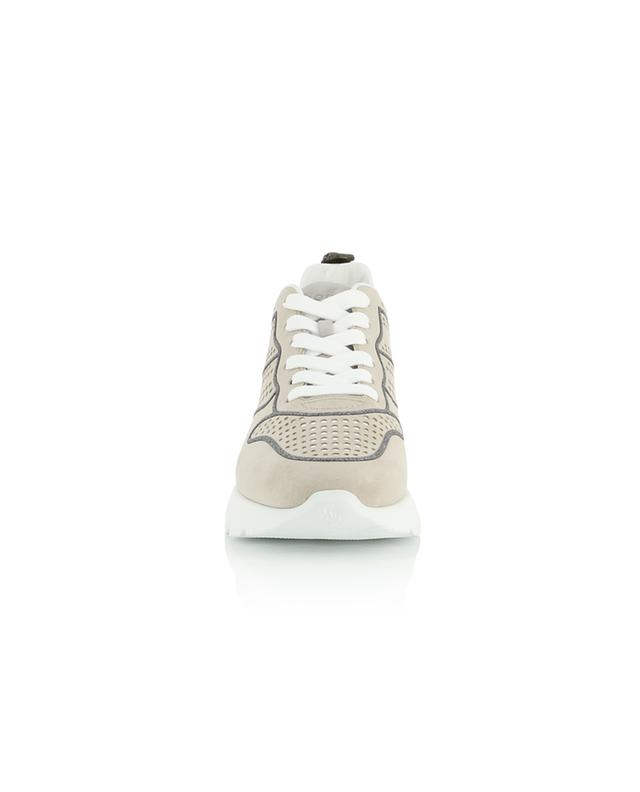 Active One perforated fabric and suede sneakers with glitter HOGAN