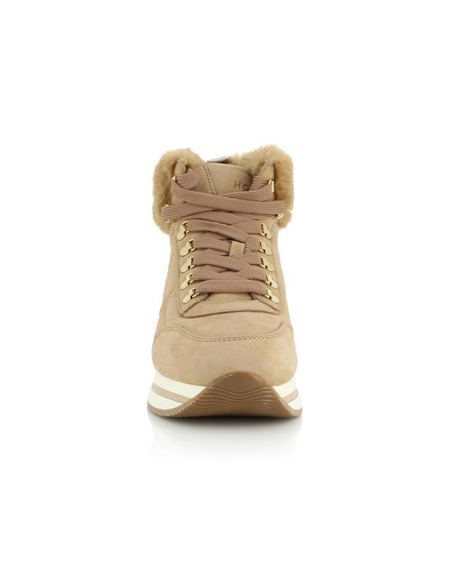 Hohe Sneakers mit Kunstpelz-Detail H222 HOGAN