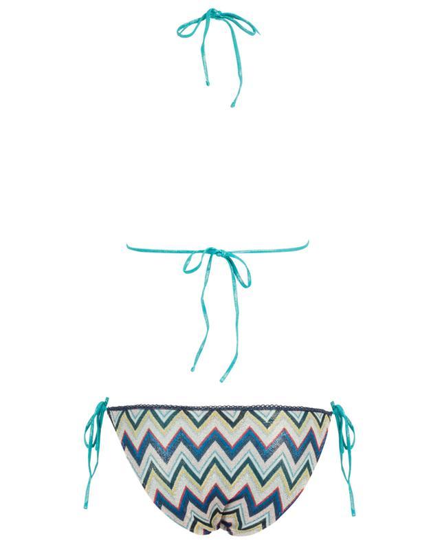Zigzag pattern triangle Lurex knit bikini MISSONI MARE