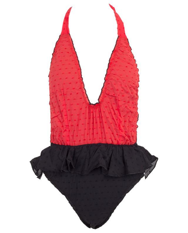 M03 Plumetti bicolour ruffled swimsuit COMO UN PEZ EN EL AGUA