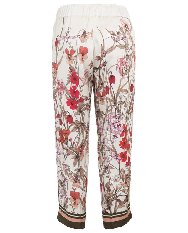 Pantalon large raccourci fleuri Colette CAMBIO