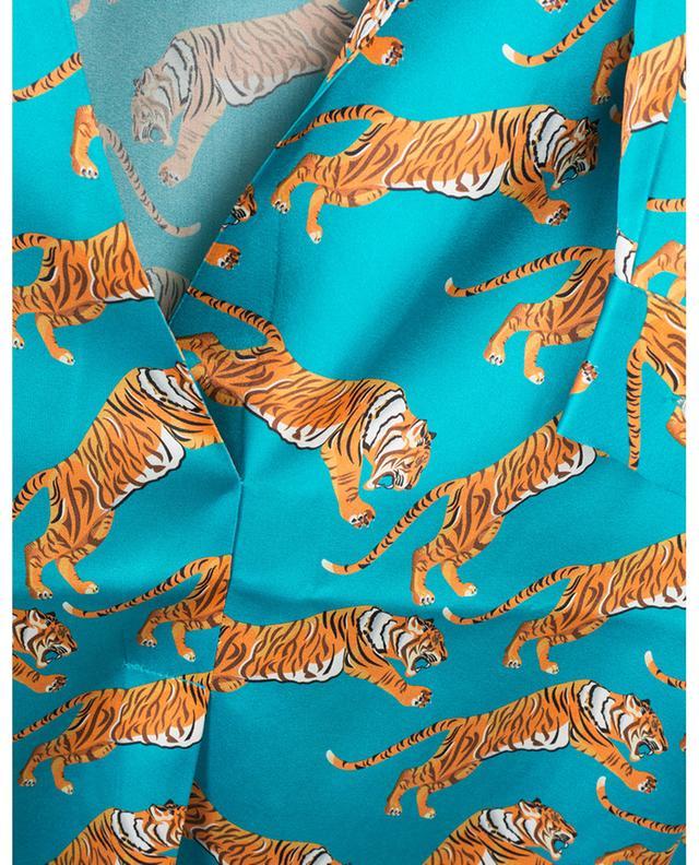 Tiger print silk stretch blouse HERZEN'S ANGELEHEIT